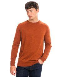 Calvin Klein Extrafine Wool Crew Neck - Brown