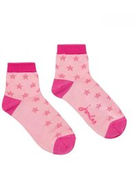 Joules Brill Bamboo Shortie Socks - Pink