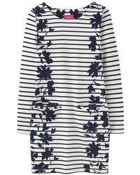 Joules Quinn34 Womens Simple Tunic With Front Pockets S/s - Blue