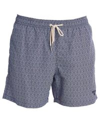 Barbour Geo Print Swim Shorts - Blue