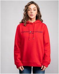 Tommy Hilfiger Regular Hilfiger Essential Hoodie - Red