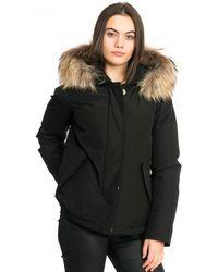 Woolrich Black Short Arctic Parka Padded Jacket