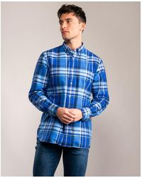 Tommy Hilfiger Large Check Fannel Shirt - Blue
