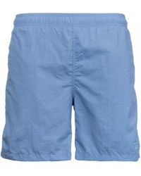 GANT Basic Long Cut Swim Shorts - Blue