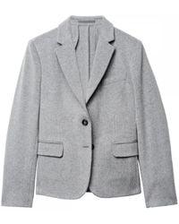 GANT Nouveaux Prep Alpaca Ladies Blazer - Grey