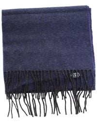 Johnstons Lambswool Scarf - Blue