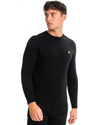 Lyle & Scott Cotton Merino Crew Sweater - Black