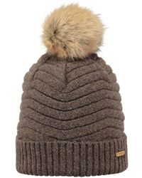 befb5565 Barts Fur Cable Bandhat in Brown - Lyst