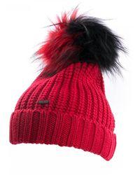 Woolrich Bicol Pon Pon Serenity Hat - Red