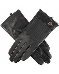Dents Freya Quilted Hairsheep Ladies Glove - Black