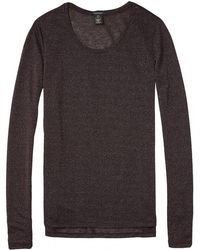 Maison Scotch - Basic Long Sleeve Special Quality Womens Tee - Lyst