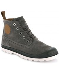 Palladium Pampa Ldn Lp Mid Sue - Brown