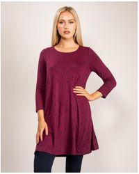 Joules Long Sleeve Jersey Swing Tunic - Purple