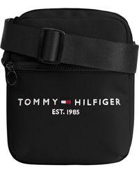 Tommy Hilfiger Th Established Mini Crossbody Logo Bag - Black