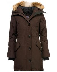 Canada Goose Rossclair Ladies Parka - Brown
