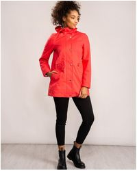Joules Shoreside Waterproof A-line Coat - Red