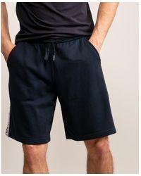 Armani Exchange White Stripe Bermuda Shorts - Blue