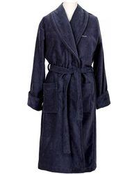 GANT - Premium Velour Mens Robe - Lyst