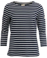 Joules Harbour Jersey Top S/s - Blue