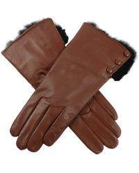 Dents Sophie Hairsheep Ladies Leather Glove - Brown