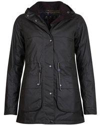 Barbour Cassley Wax Jacket - Black