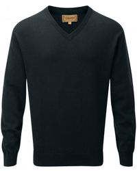 Schoffel - Cotton/cashmere V Neck Mens Jumper - Lyst