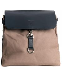Sandqvist Sanqvist Vilda W/ Dog Hook Earth Brown With Navy Leather - Blue