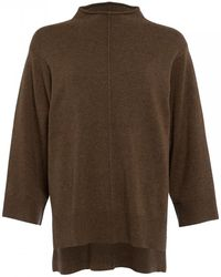 French Connection Ebba Vhari Mock Neck Jumper - Brown