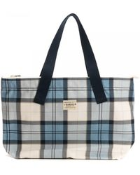 Barbour Printed Shopper - Blue