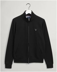 GANT Original Full Zip Cardigan - Black