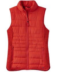 Joules Fallow Padded Womens Gilet With Funnel Neck (z) - Red