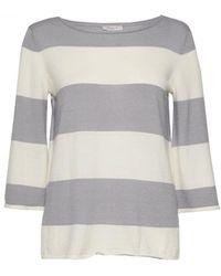 Great Plains Madison Merino Stripe Jumper - Grey