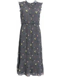 Ted Baker Oracle Pleated Smock Dress - Gray
