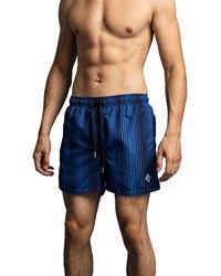 GANT Cf Gradient Stripe Swim Shorts - Blue