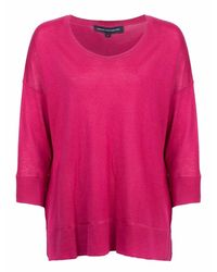 French Connection Spring Light Knits Long Sleeve Scoop Neck Jumper - Pink