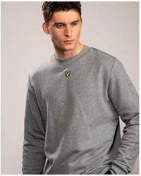 Lyle & Scott Fabric Mix Crew Neck Sweatshirt - Gray