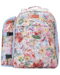 Joules Fully Insulated 4 Person Printed Picnic Rucksack S/s - White