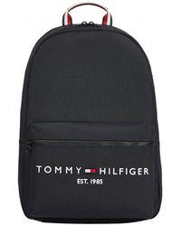 Tommy Hilfiger Th Established Logo Stripe Backpack - Black