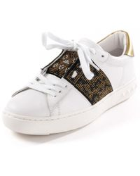 0eff5d866fb9 Lyst - Ash Panthera Leather Sneakers in White