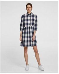 Woolrich Patterned Short Dress - Blue