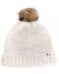 Joules Womens Heavyweight Boucle Hat A/w - Blue