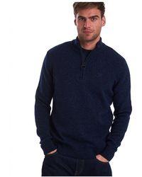 Barbour Tisbury Half Zip Sweatshirt - Blue