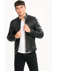 BOSS Jagson2 Mens Leather Jacket - Black