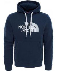 The North Face - Drew Peak Ahjyulb Pullover Dark Blue Hoodie - Lyst