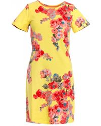 Joules Rivieraprint Womens Printed Dress With Short Sleeves S/s - Black