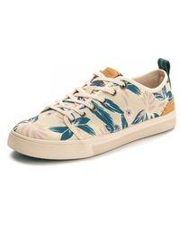 TOMS Lilac Floral Print Trvl Lite Low Sneaker - Blue