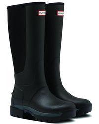 HUNTER W Field Balmoral Hybrid Tall Boot - Black