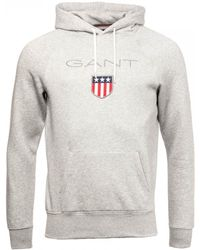 GANT Shield Sweat Hoodie - Grey