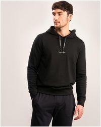 Armani Exchange Felpa Back Logo Hoodie - Black