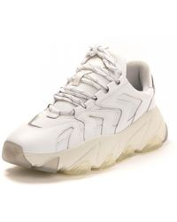 Ash Ah Extreme Nappa Calf Mesh Dragon Trainers - White